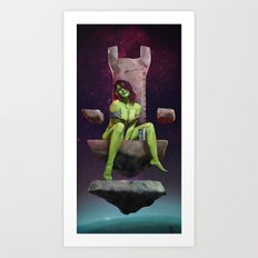 Gamora of Thrones Art Print