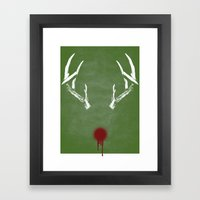 Rudolph The Bloody Nosed… Framed Art Print