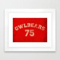 Go Owlbears! Framed Art Print