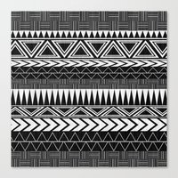 Tribal Monochrome. Canvas Print