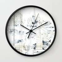 Neutral Abstract 01 Wall Clock