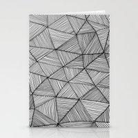 Angular Stripes Stationery Cards