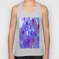 Blue Cherry Blossoms Unisex Tank Top