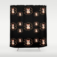 foxes in autumn. Pattern. Shower Curtain