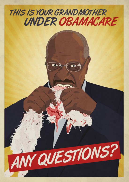 So Many Questions Herman Cain Art Print