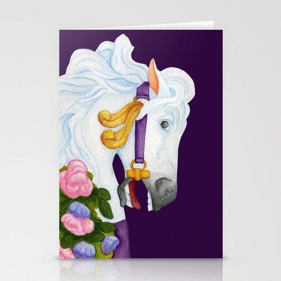 Carousel Horse - Najira Stationery Card