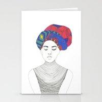 Fashion Illustration 1  Stationery Cards