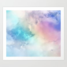 BLUEBIRDS FLY Art Print