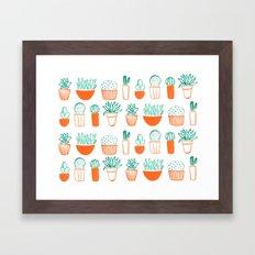 cacti pattern Framed Art Print