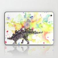 Stegosaurus Dinosaur in Splash of Color Laptop & iPad Skin