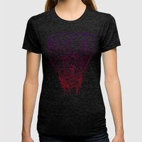 Open Wide! Womens Fitted Tee Tri-Black SMALL