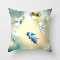 Seahorse Nursery Throw Pillow