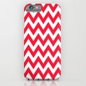 Christmas Red Chevron iPhone & iPod Case
