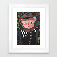 Bear in a coat Framed Art Print