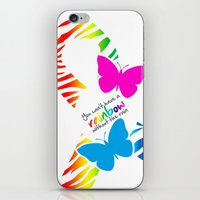 You can't have a Rainbow without the Rain - Awareness Ribbon iPhone & iPod Skin