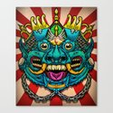 Justice Barong Mask Canvas Print