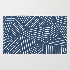 Abstraction Linear Zoom Navy Rug