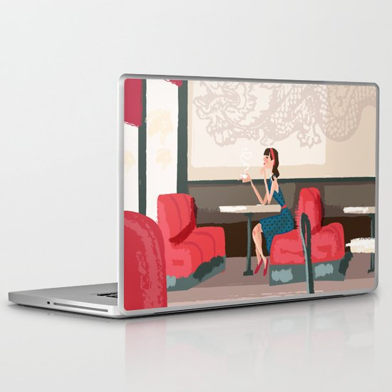 Sipping Green Tea at the Sushi House Laptop & iPad Skin