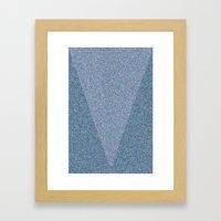 Blue Envelope Framed Art Print