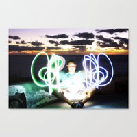Sunset On Light Canvas Print