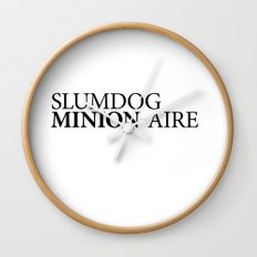 SLUMDOG MINION-AIRE Wall Clock