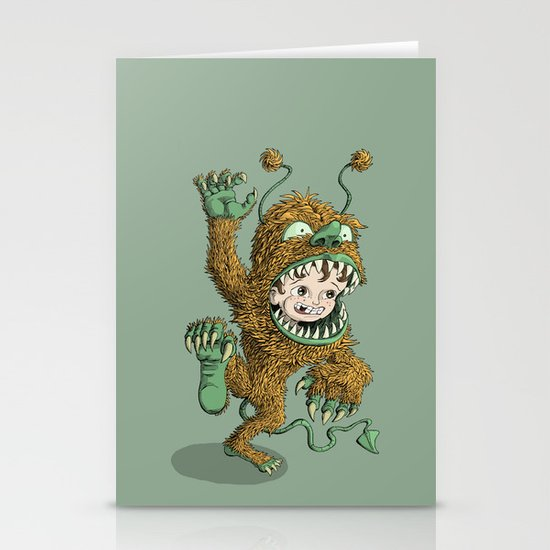 Monster Inside Stationery Card