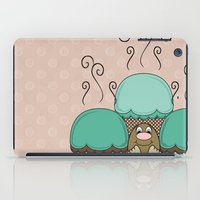 Cute Monster With Cyan And Orange Frosted Cupcakes iPad Case
