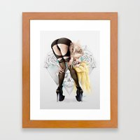 4 Eyes Framed Art Print