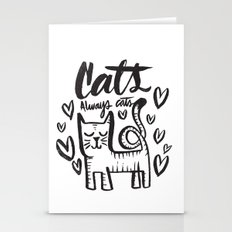 ALWAYS CATS Stationery Cards