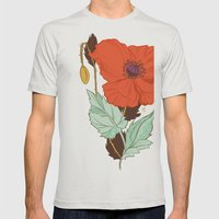 Poppy Mens Fitted Tee Silver SMALL