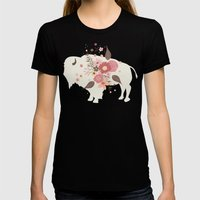 Floral Buffalo Womens Fitted Tee Black SMALL
