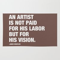 An artist is not paid for his labor but for his vision. Rug