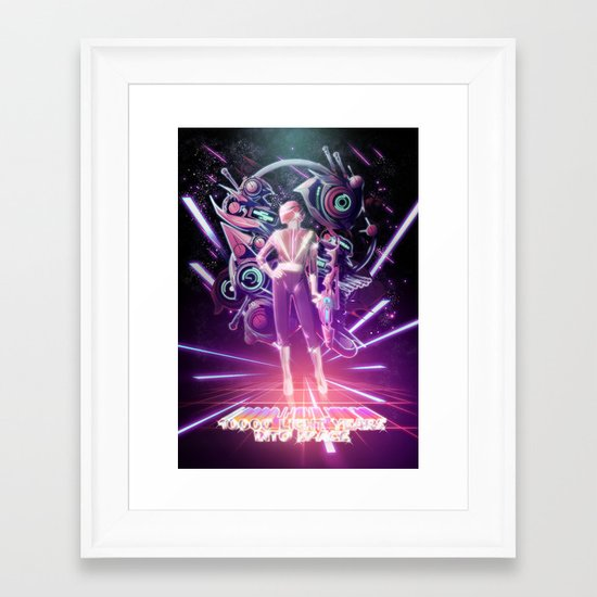 10000 Lightyears Into Space Framed Art Print