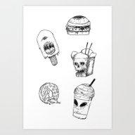 Monster Food Art Print