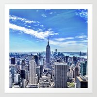 Empire State from the Rock. Art Print