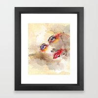 sad crown Framed Art Print