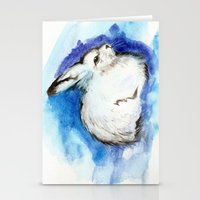 Grumpy Artic Hare Stationery Cards