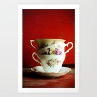 Vintage Tea Art Print