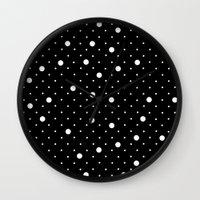 Pin Point Polka Dots Whi… Wall Clock