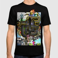 TURN IT UP! Mens Fitted Tee Black SMALL