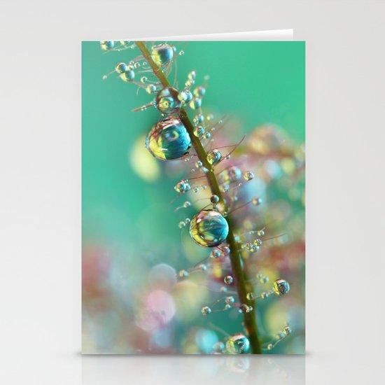 Smokey Rainbow Drops Stationery Card