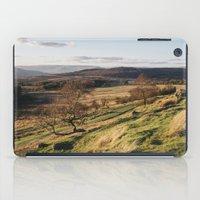 Trees on a hillside at sunset. Upper Padley, Derbyshire, UK. iPad Case
