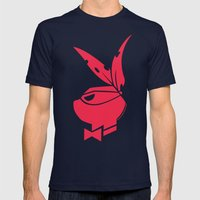 Playboy Turtle: Raphael Mens Fitted Tee Navy SMALL