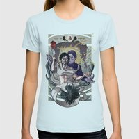 Designing Will Graham Womens Fitted Tee Light Blue SMALL