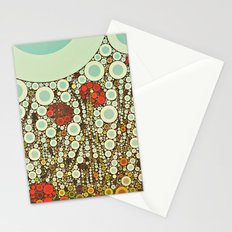 Pop Pop Poppies Abstract Red Flowers and sky with vintage pop art charm Stationery Cards