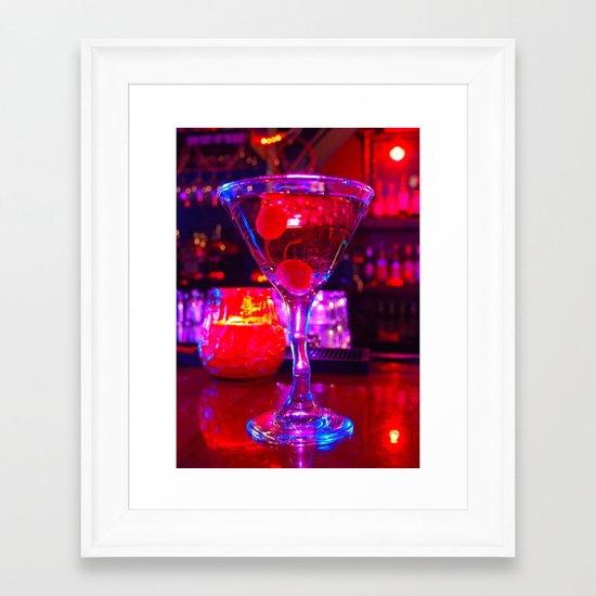 Martini aesthetics  Framed Art Print