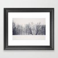 Into the Blizzard Framed Art Print