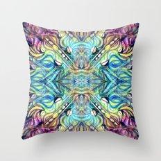 Rainbow Pukkalele Throw Pillow
