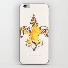 Fleur De Lis LSU Tiger iPhone & iPod Skin