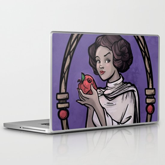 Snow Organa and the Poisoned Death Star Laptop & iPad Skin